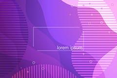 Fondo horizontal del diseño del extracto del vector plano de la pendiente Bandera geométrica de las formas con los efectos flúido libre illustration