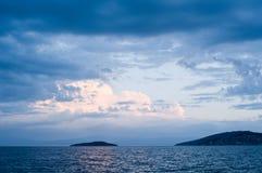 Fondo horizontal del mar/del océano Foto de archivo