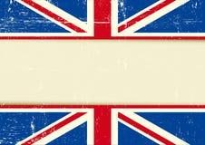Fondo horizontal rasguñado Reino Unido Fotos de archivo libres de regalías