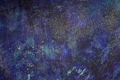 Fondo horizontal salpicado azul abstracto de la pintura Imagen de archivo