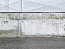 Fondo, hormigón, gris, blanco, metal Foto de archivo libre de regalías