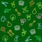 Fondo, horticultura, floricultura, inconsútil, color Fotos de archivo