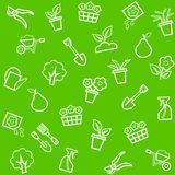 Fondo, horticultura, floricultura, inconsútil, verde Imagen de archivo