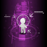 Fondo humano de la tecnología digital stock de ilustración