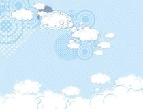 Fondo ideal del cielo del estallido Imágenes de archivo libres de regalías