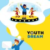 Fondo ideal del sueño de la juventud del golpeador Foto de archivo libre de regalías