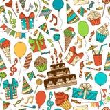 Fondo ilimitado del cumpleaños brillante del vector Foto de archivo