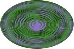 Fondo, illustrazione una sfera con una linea ondulata su fondo bianco! Immagine Stock