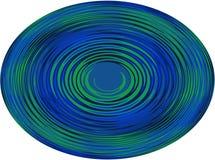 Fondo, illustrazione una sfera con una linea ondulata su fondo bianco! Fotografia Stock Libera da Diritti