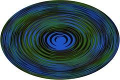 Fondo, illustrazione una sfera con una linea ondulata su fondo bianco! Fotografie Stock Libere da Diritti