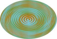 Fondo, illustrazione una sfera con una linea ondulata su fondo bianco! Fotografia Stock