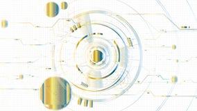 Fondo iluminado tecnológico abstracto de la plantilla del bosquejo del vector Imágenes de archivo libres de regalías