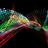 Fondo ilustrado concepto abstracto de la tecnología Fotos de archivo