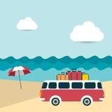 Fondo ilustrado verano Imagen de archivo libre de regalías