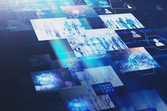 Fondo immersive dell'interfaccia dello schermo virtuale immagine stock libera da diritti