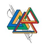 Fondo impossibile geometrico astratto di forma del triangolo Fotografia Stock