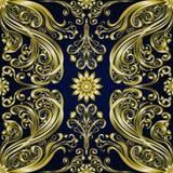 Fondo inconsútil étnico del adorno floral del vintage del damasco Imagen de archivo libre de regalías