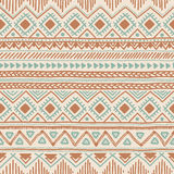 Fondo inconsútil étnico Modelo geométrico tribal del color Mano stock de ilustración