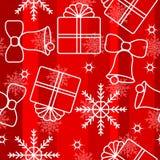 Fondo inconsútil 3 de los copos de nieve de la Navidad Fotos de archivo libres de regalías