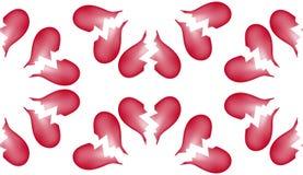 Fondo inconsútil 5 del modelo del azulejo del corazón quebrado Imágenes de archivo libres de regalías