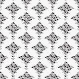 Fondo inconsútil abstracto blanco y negro stock de ilustración