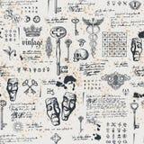 Fondo inconsútil abstracto con llaves del vintage libre illustration