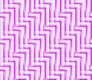 Fondo inconsútil abstracto de las líneas y de los ángulos blancos y rosados Fotografía de archivo libre de regalías