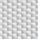 Fondo inconsútil abstracto de los cubos 3d. Vector eps8 Fotos de archivo libres de regalías