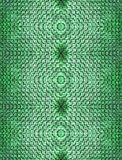 Fondo inconsútil abstracto de los ladrillos puestos en una forma interesante en similar conectada del color verde simétricamente  fotos de archivo