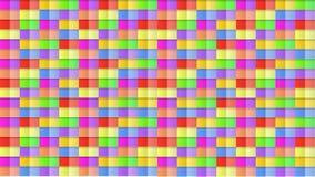 Fondo inconsútil abstracto del modelo 3D, contexto divertido colorido, cubos brillantes de los colores stock de ilustración