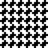 Fondo inconsútil abstracto del modelo Elementos blancos y negros del diseño del rompecabezas del pixel Ilustración del vector Imagen de archivo