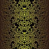 Fondo inconsútil abstracto del modelo perforado que bombea del cuerpo del oro Fotos de archivo libres de regalías