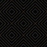 Fondo inconsútil abstracto del Rhombus y del cuadrado plateados de oro Imagen de archivo libre de regalías