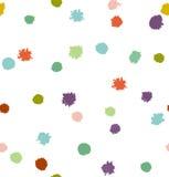 Fondo inconsútil abstracto multicolor divertido Textura punteada Fotografía de archivo libre de regalías