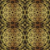 Fondo inconsútil adornado del lujo del oro del vector Ilustración del Vector
