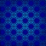 Fondo inconsútil azul Ornamento retro Vector eps10 Imágenes de archivo libres de regalías