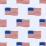 Fondo inconsútil bajo la forma de banderas americanas patriótico Vector Imagen de archivo