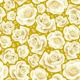 Fondo inconsútil blanco de Rose Foto de archivo