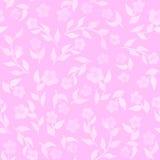 Fondo inconsútil blando rosado floral del modelo de la flor de la acuarela Fotos de archivo libres de regalías