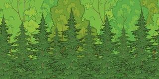 Fondo inconsútil, bosque ilustración del vector