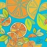 Fondo inconsútil brillante del modelo de la fruta cítrica anaranjada Foto de archivo libre de regalías