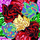 Fondo inconsútil coloreado hermoso brillante de las rosas libre illustration