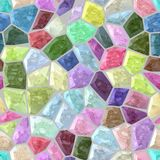Fondo inconsútil coloreado pastel dulce de mosaico del mármol del piso de la textura pedregosa plástica del modelo con la lechada libre illustration