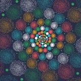 Fondo inconsútil colorido abstracto hecho del sistema de anillos, ejemplo, Fotos de archivo