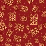 Fondo inconsútil colorido de la Navidad. stock de ilustración