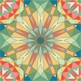Fondo inconsútil colorido del modelo de la teja del caleidoscopio Imágenes de archivo libres de regalías