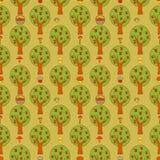 Fondo inconsútil con el bosque Fotografía de archivo libre de regalías