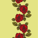Fondo inconsútil con el ornamento de las rosas Ilustración del vector JP Foto de archivo