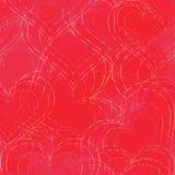 Fondo inconsútil con formas del corazón Foto de archivo libre de regalías