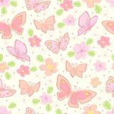 Fondo inconsútil con la mariposa Imagen de archivo